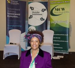 Dr Yvonne Howard-Bunt at the Ethical Approaches to Peaceful Coexistence Conference, Cardiff, 2017