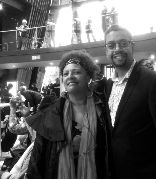 Dr Yvonne Howard-Bunt and Vaughan Gething